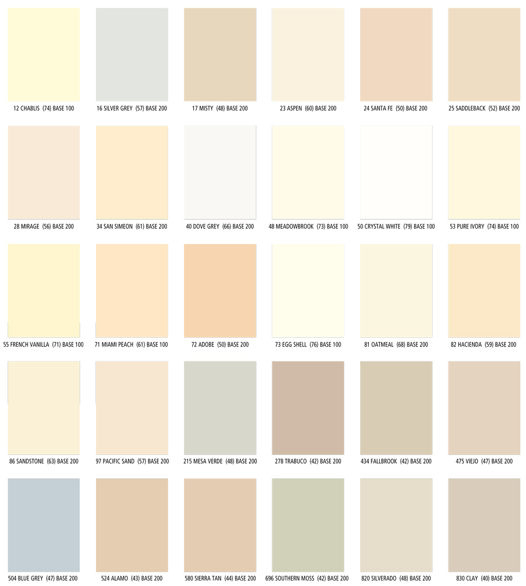 Color charts lahabrastandard colorspremium colors parex color charts nvjuhfo Gallery