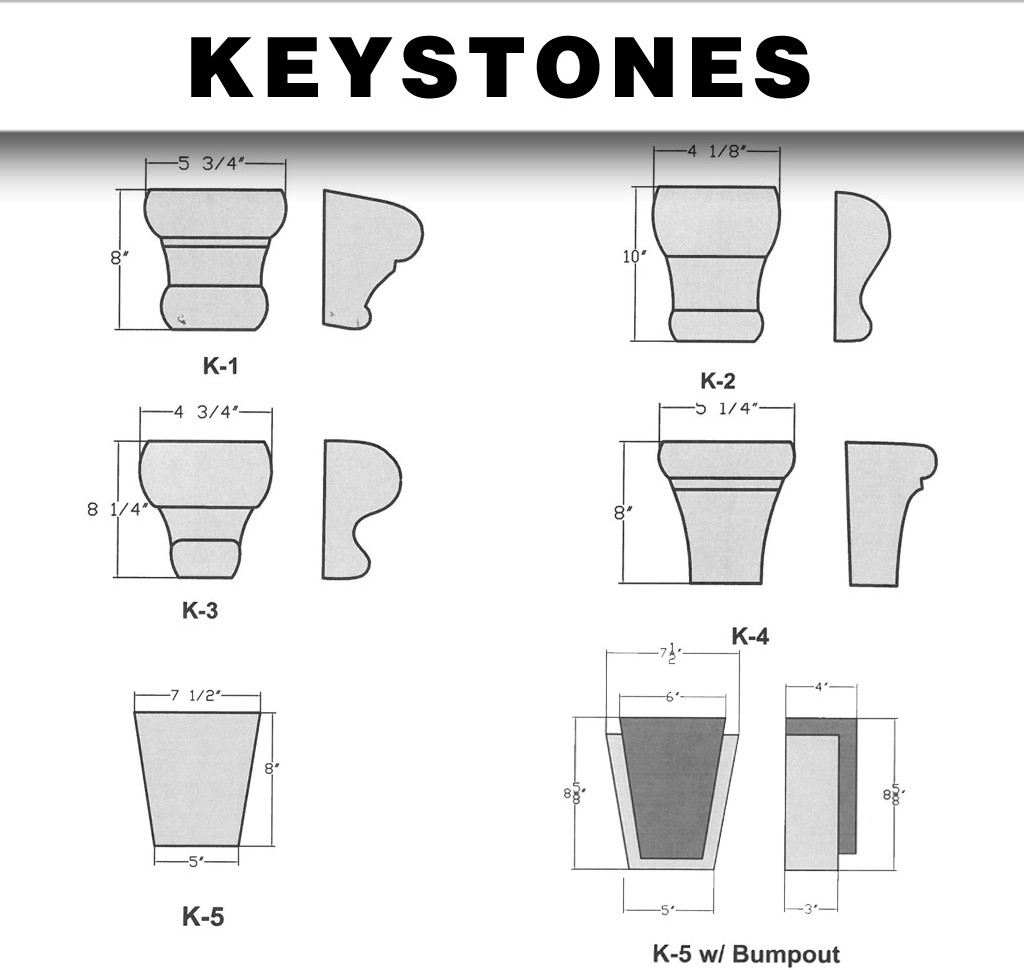 architectural shapes keystones